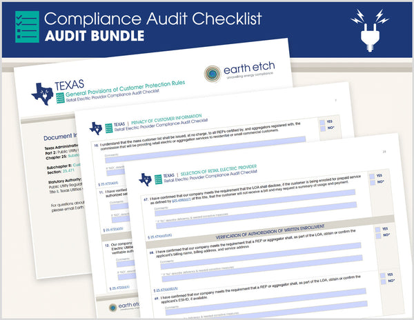 Texas Compliance Audit Checklist BUNDLE (Electric)