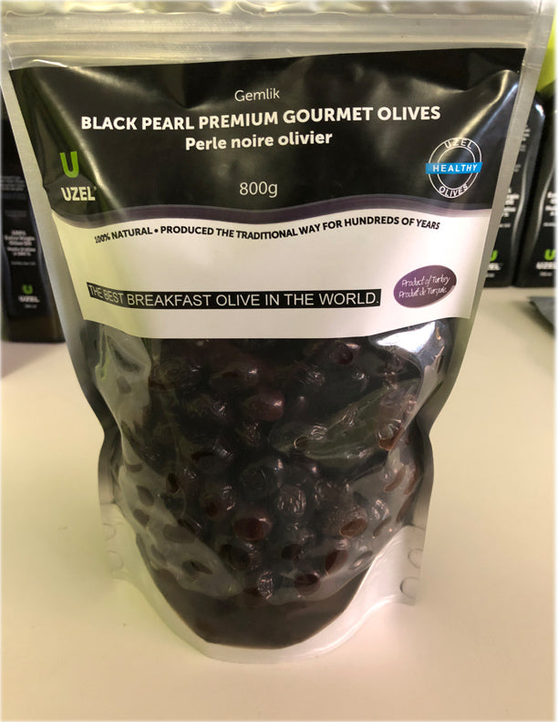 Gemlik Black Pearl Olives (800 grams)1.7lb