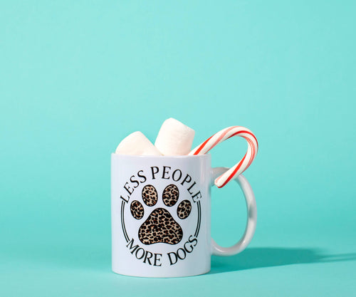 The Dapper Paw - 11oz Less People More Dogs Mug
