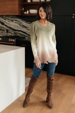 Color Melt Sweater in Olive