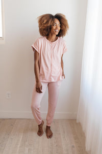 Luxurious Loungewear Top In Blush