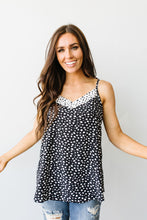 Spotted Contrast Camisole In Black