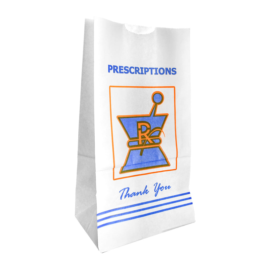 Pharmacy Rx Paper Bags