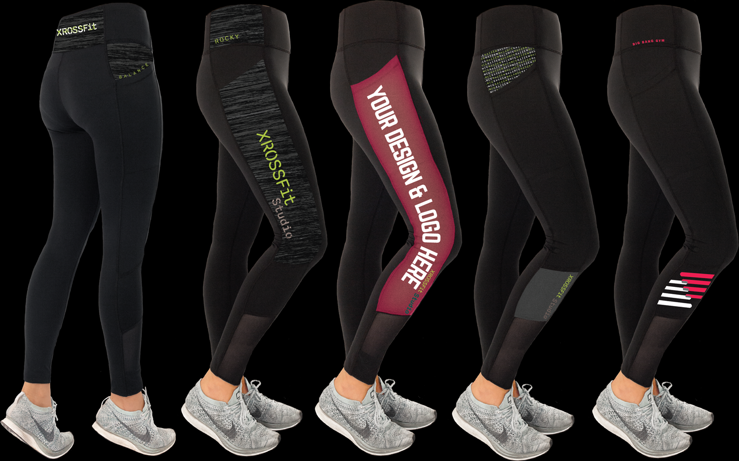 made in usa custom leggings for crossfit gyms and teams