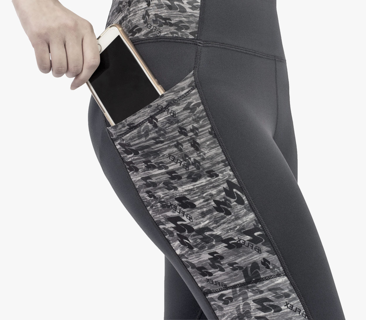 aflex ombre leggings with side pockets