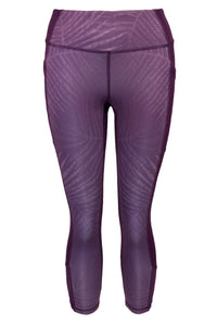 Havana Palm Women's Capri Leggings