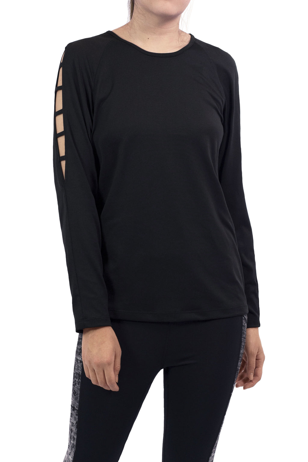 Influence Women's Long Sleeve With Open Shoulder Top