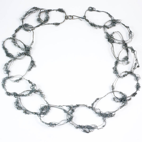 Mesh necklace, med