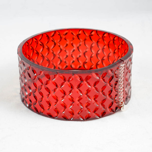 Crystal cuff, lg, burnt orange KI45