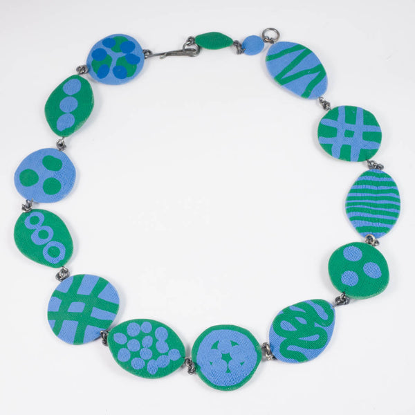 Dot necklace Green/Light Blue