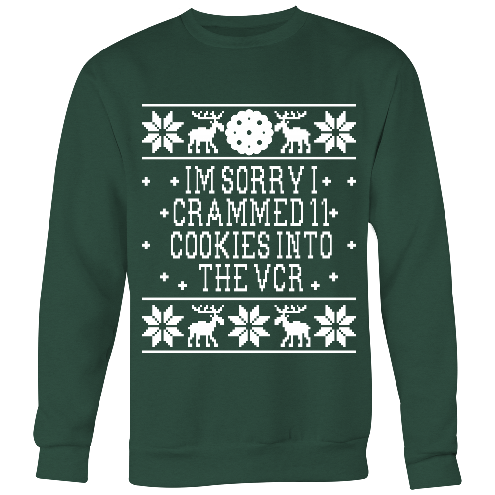 I'm Sorry I Crammed 11 Cookies Into The VCR - Unisex Ugly Christmas Sweatshirt - Elf Movie Quote