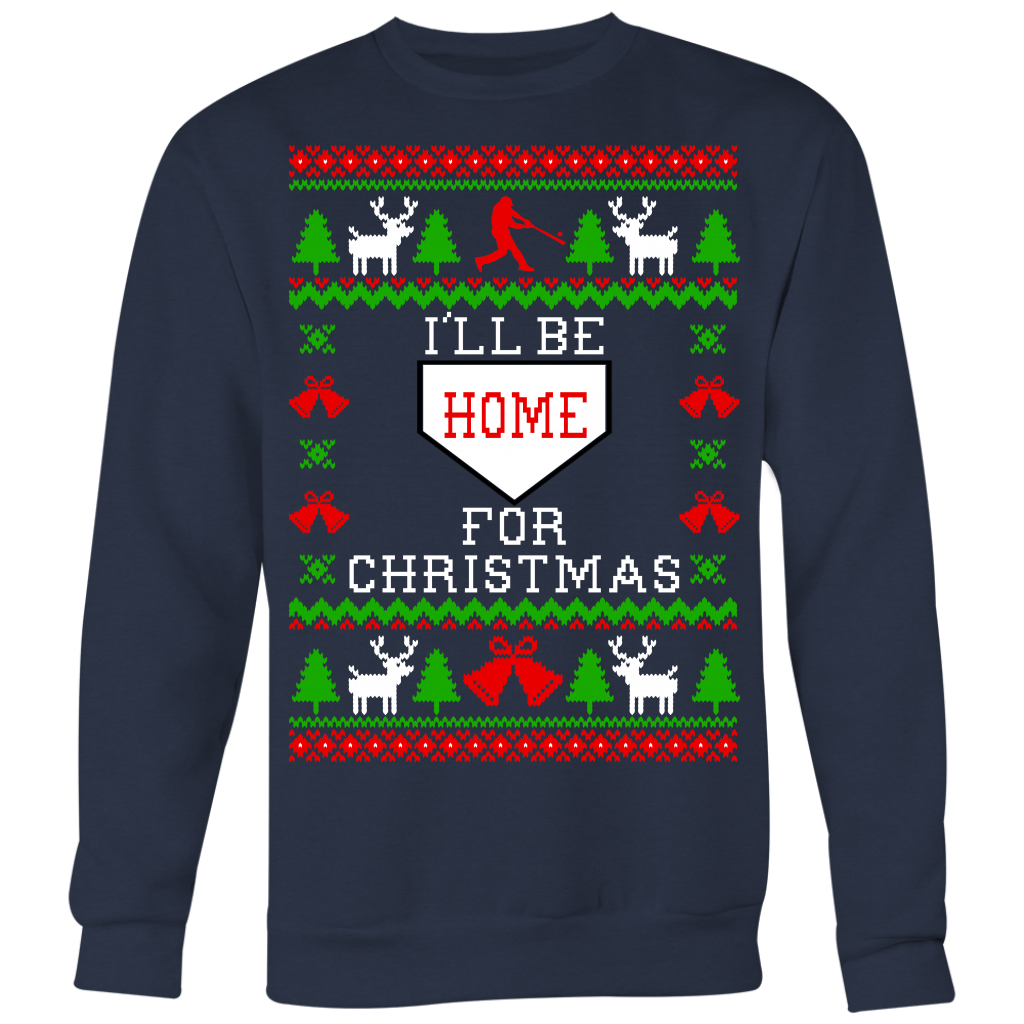 Baseball Unisex Ugly Christmas Sweatshirt