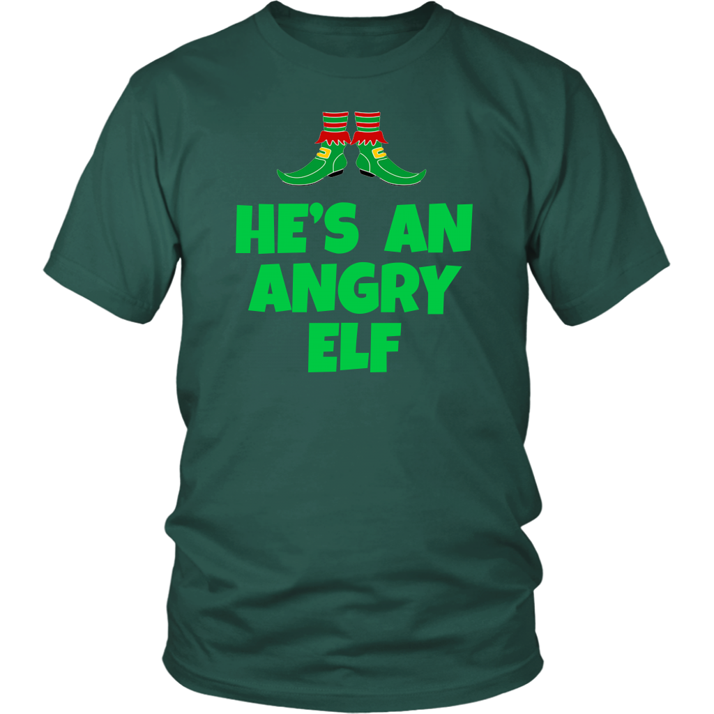 He's An Angry Elf - Unisex T-Shirt