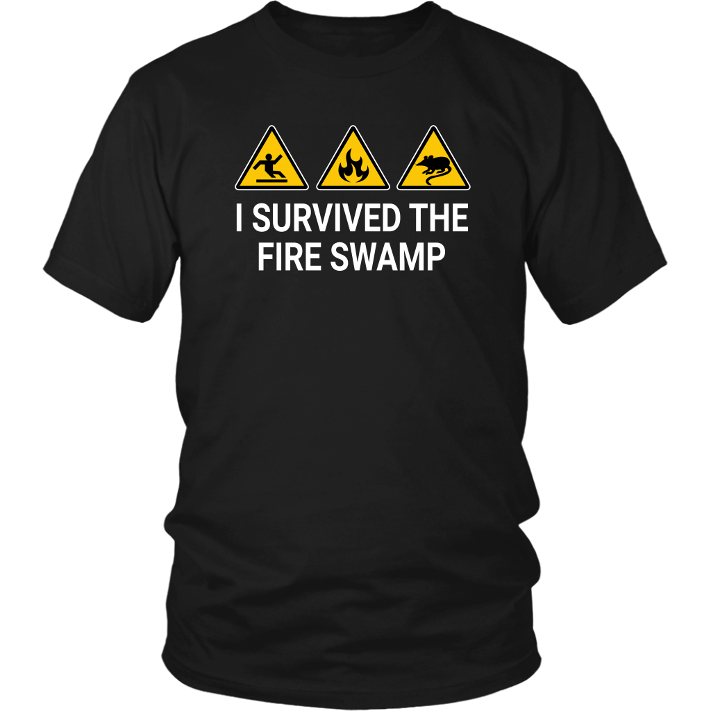 I Survived The Fire Swamp - Unisex T-Shirt - The Princess Bride