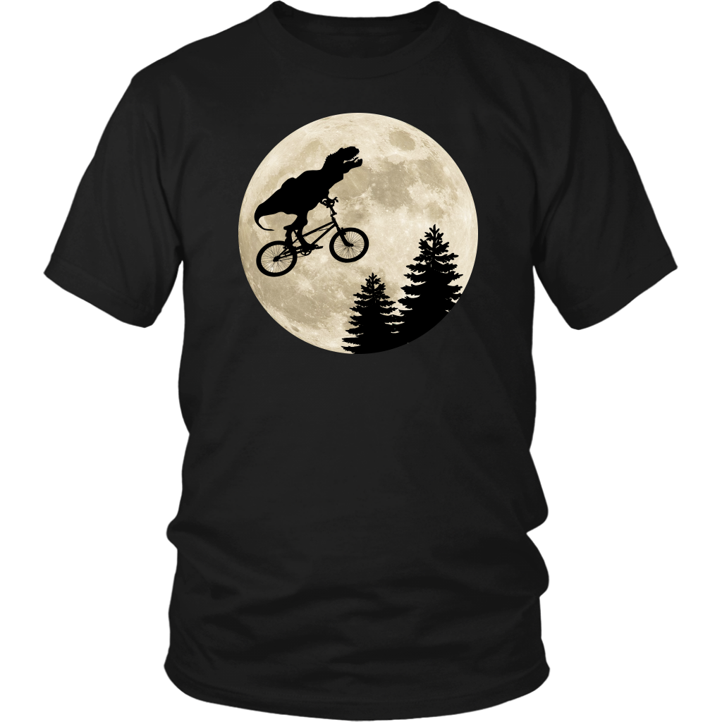 T-Rex Moon Bike - Unisex T-Shirt