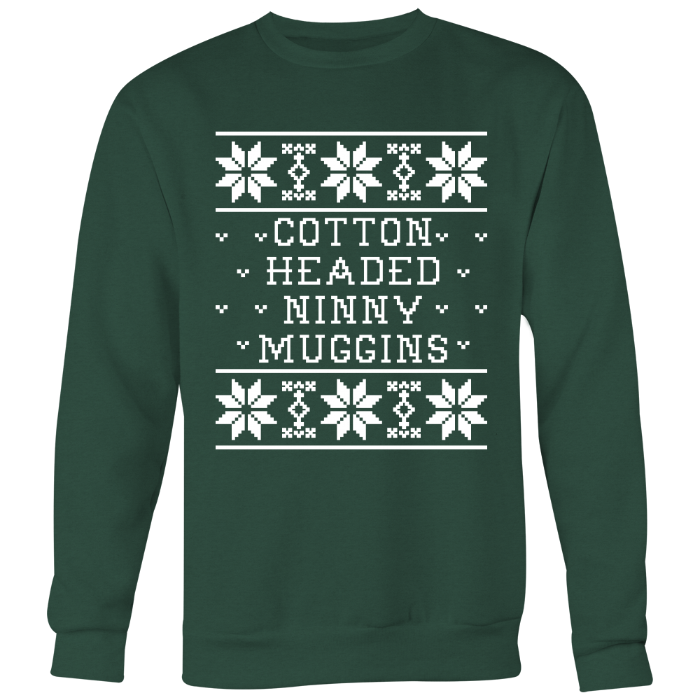Cotton Headed Ninny Muggins Unisex Christmas Sweater - Elf Quote