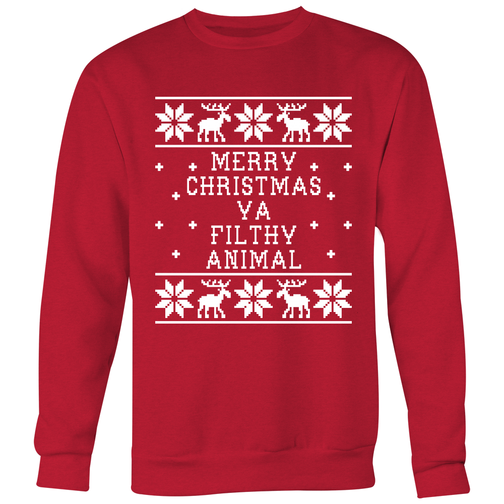 Merry Christmas Ya Filthy Animal Unisex Sweater - Home Alone