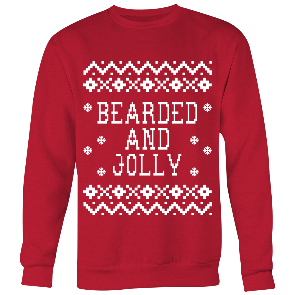 Bearded And Jolly - Unisex Ugly Christmas Sweatshirt