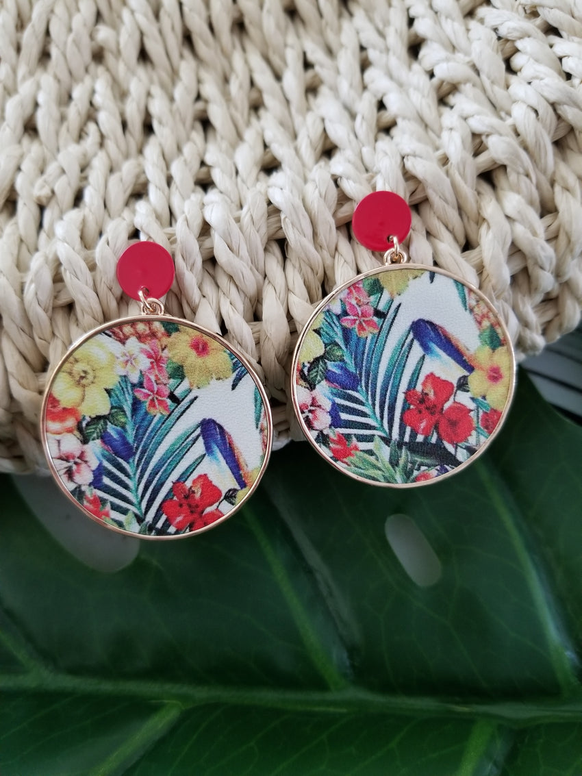Rainforest Disc Earrings
