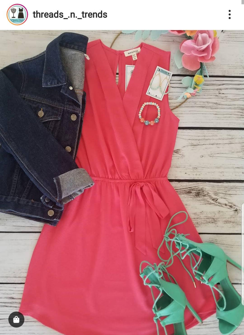 Coral Spring Day Dress