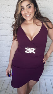 Maroon Night Out Dress