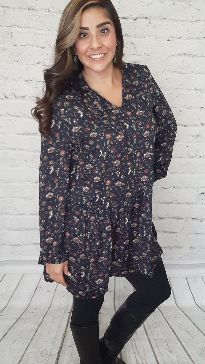 Harvest Dress Navy