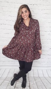 Harvest Dress Cranberry