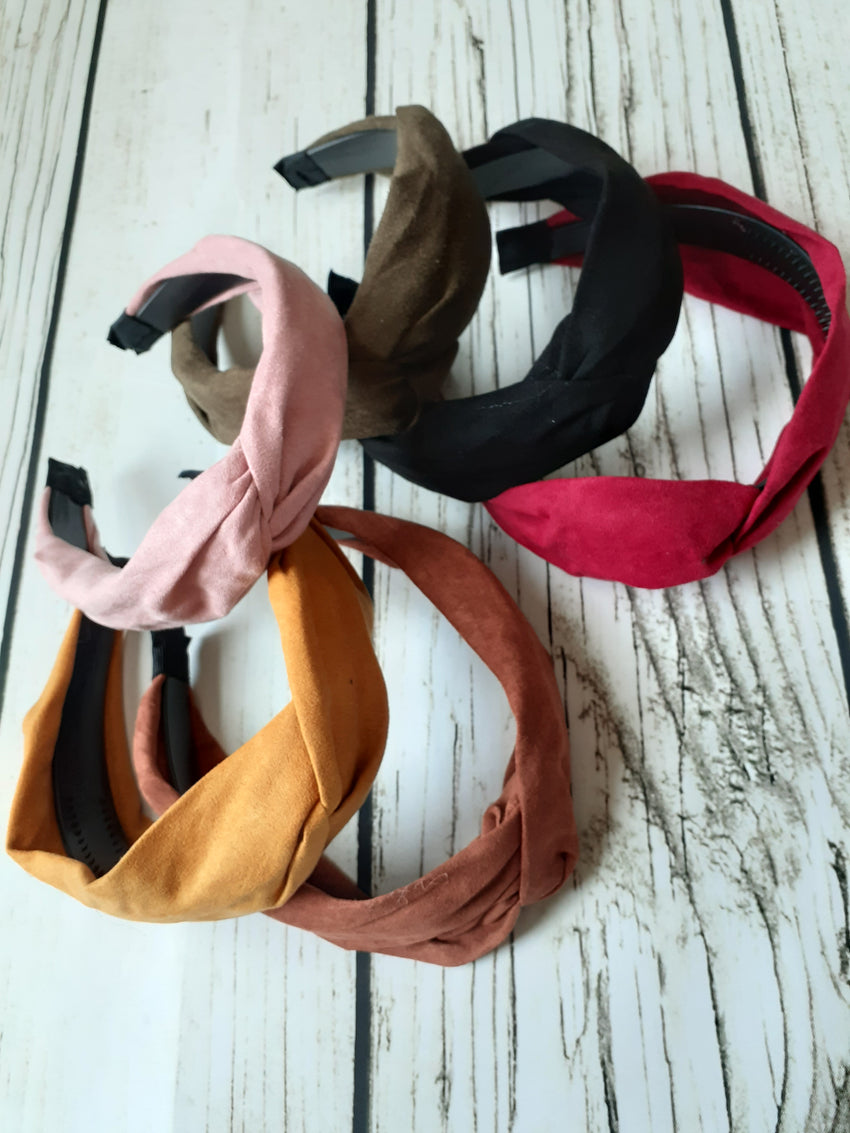Solid Suede Headbands