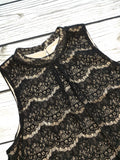Black Lace Curvy Tank