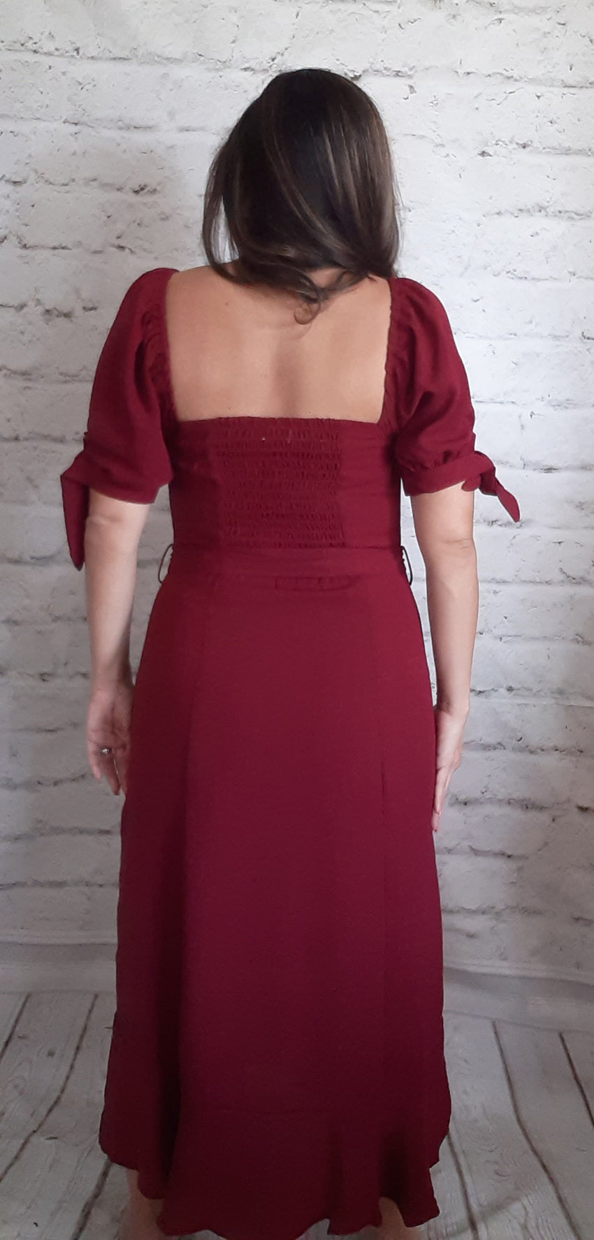 Falling for Fall in Cranberry Dress