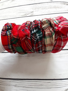 Holiday Plaid Headband