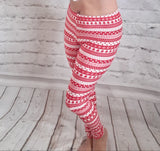 Stripe Holiday Leggings