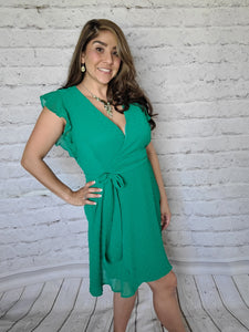 Kelly Green Dotted Swiss Dress