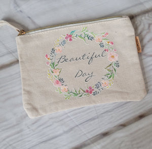 Beautiful Day Canvas Pouch Grab Bag