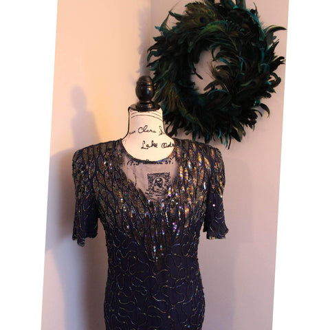 Women's Petite Vintage Sequin Dress by Allyson Whitmore - The Nomadic Attic