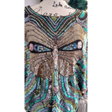 [the_nomadic_attic]:Women's Vintage 1970's Butterfly Sequin Top