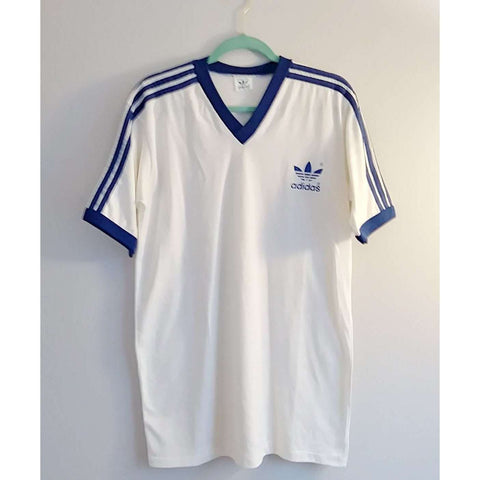 Authentic Vintage Adidas Striped Shoulder Soccer Shirt - The Nomadic Attic