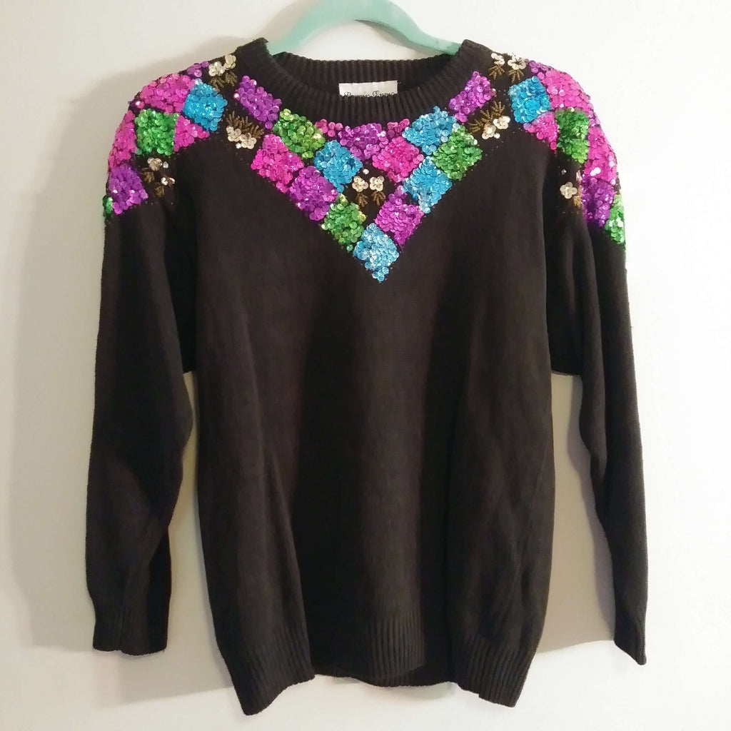 [the_nomadic_attic]:Women's Authentic Vintage 1980's Sweater by Bonnie Evans
