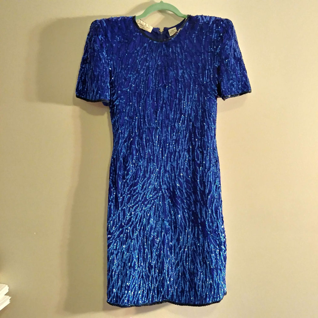 [the_nomadic_attic]:Women's Authentic Vintage Sequin Cocktail Dress by Lawrence Kazar