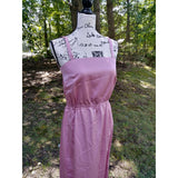 Women's 1970's Handmade Pink Satin Prom Dress - The Nomadic Attic