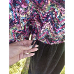 [the_nomadic_attic]:Women's Authentic Vintage 1970's Velvet and Sequin Maxi Dress