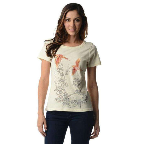 Women's Short Sleeve Embroidered Tee - The Nomadic Attic