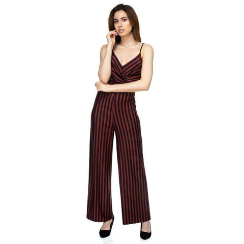 [the_nomadic_attic]:Stripe Front Twist Jumpsuit