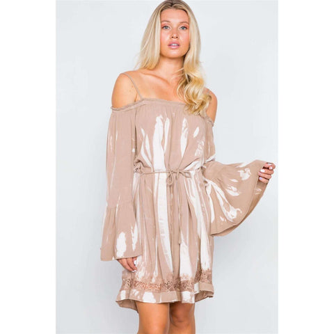 [the_nomadic_attic]:Bell Sleeves Tie Dye Boho Mini Dress