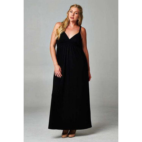 Women's Plus Size Braided Strap Maxi Dress - The Nomadic Attic