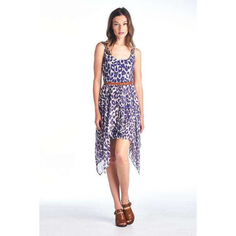 [the_nomadic_attic]:Women's Hi Low Dress with Waist Belt