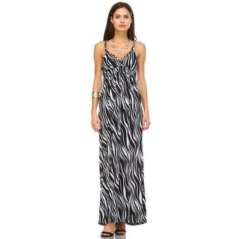 [the_nomadic_attic]:Women's Braided Strap Printed Maxi Dress