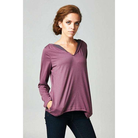 [the_nomadic_attic]:Women's Long Sleeve Hoodie with Welt Pockets