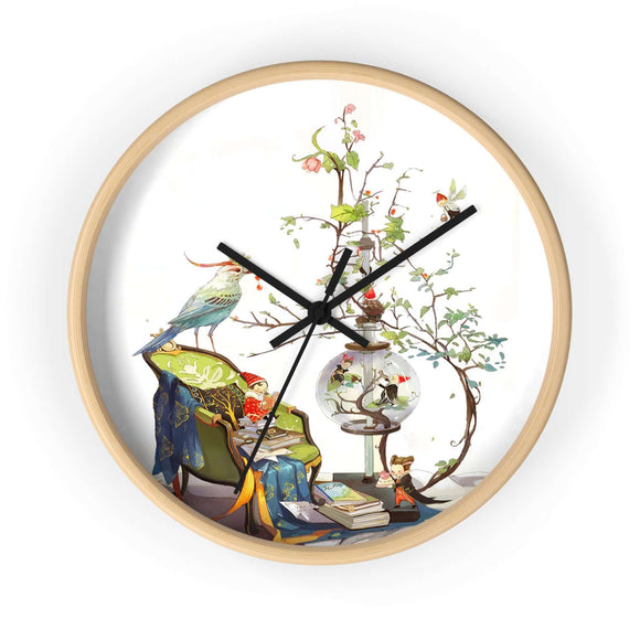A Little Mischief Wall Clock - The Nomadic Attic
