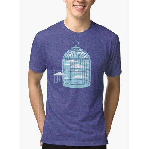 Free as a Bird Purple T-shirt - The Nomadic Attic